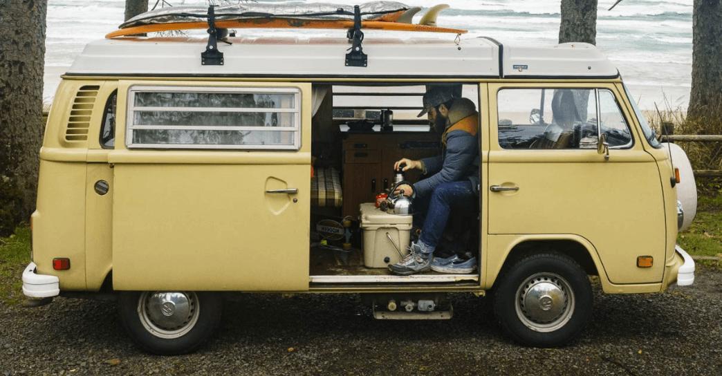 daniel norris living in his 1978 volkswagen westfalia van