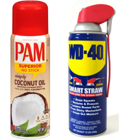 pam cooking spray and wd-40