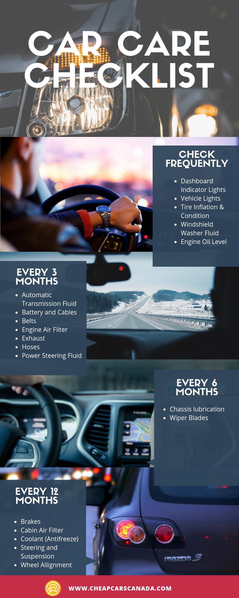 Car Maintenance Checklist Cheap Cars Canada