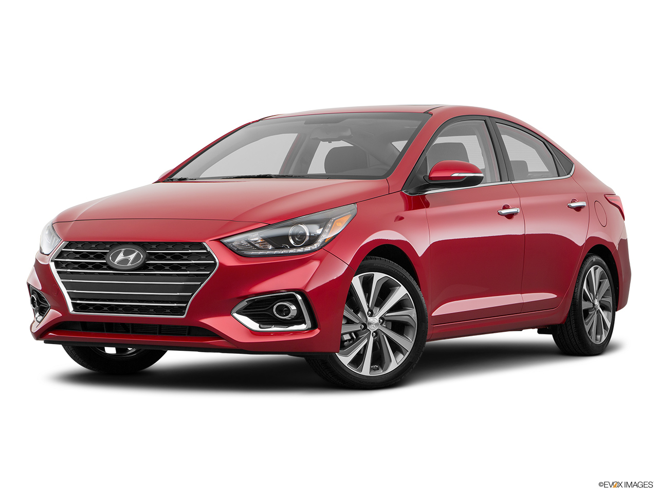 2018 Hyundai Accent Limited 4Dr FWD sedan Pomegranate Red Fuel Efficient Cars Canada